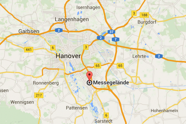 Map Lage Hannover Messe